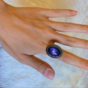 *Handmade* Nebula Cosmic Galaxy Adjustable Ring